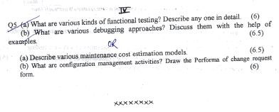 Software Engineering term test papers schools